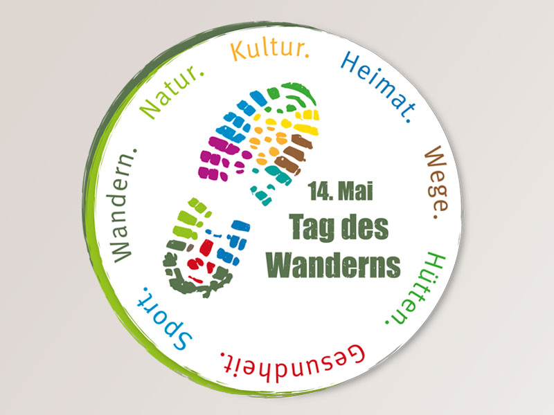 Corporate Design Tag des Wanderns