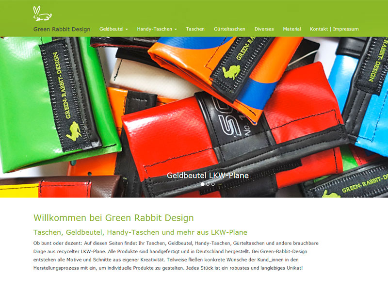 Webdesign Green Rabbit Design, Berlin